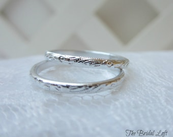 PAIR of Faux Wedding Bands Wedding Rings for your Ring Pillow, Anniversary, Bridal Shower, Wedding Favors - Choice of Silver or Gold