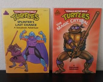 Vintage Teenage Mutant Ninja Turtles Book Bundle - 2 Books - 1990s