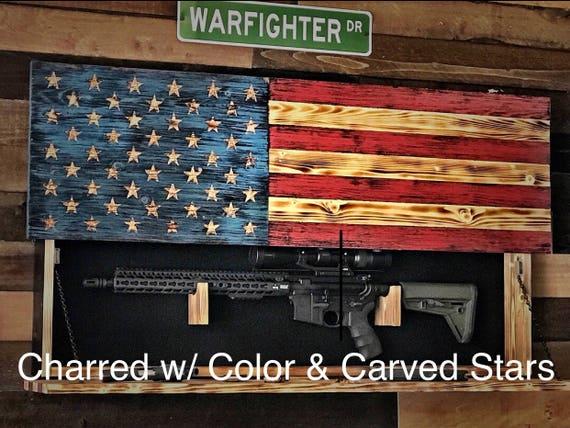 Hidden Gun Storage American Flag Gun Storage Hidden Gun
