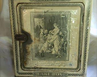 Antique Schepp's Cake Tin Box - 1901-1928