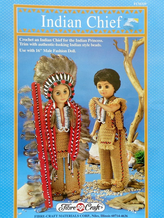 Fibre Craft Indian Chief 16 Male Fashion Doll Native American