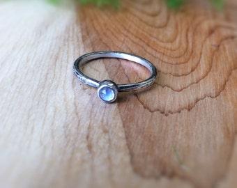 Rose cut Moonstone ring