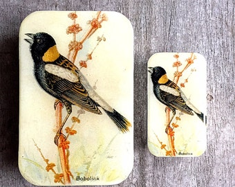 Bird tin SMALL,  Notions tin