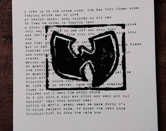 C.R.E.A.M. Woodcut Print