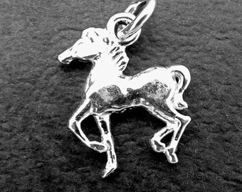 Sterling Silver Horse Charm, Horse Pendant,  Sterling Silver Pendant charm, Sterling Silver Jewellery Supplies.