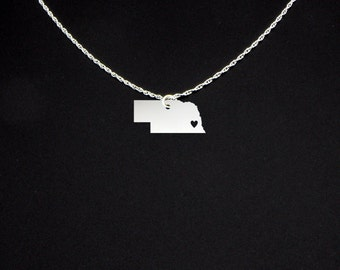 Nebraska Necklace - Nebraska Jewelry - Nebraska Gift - Cyber Monday Gift