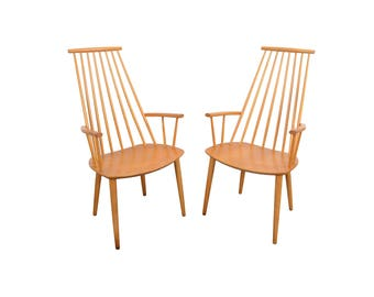 Highback Chairs Folke Palsson for FDB Mobler Danish Modern
