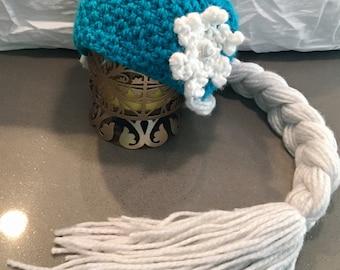 Frozen Princess Hat with Braid
