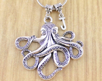 Large Personalized Octopus Keychain • Limited Edition Octopus Key Chain • Made To Order Ships 48-72 Hours Monday-Friday • Xmas Gift 2018