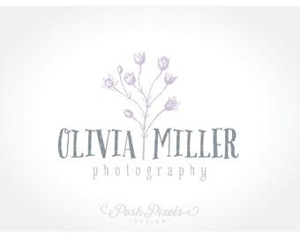 Logo Design (Premade) Floral Logo, Hand Drawn Logo, Photography Logo, Boutique logo, Flower logo, Shabby Chic
