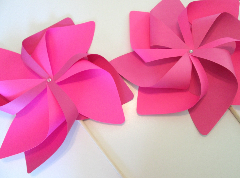 Paper Pinwheels Clearance Set of 2 Fancy Wave Pinwheels Party