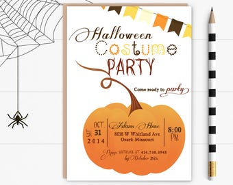 Halloween Party Invite- 5x7 JPG or PDF