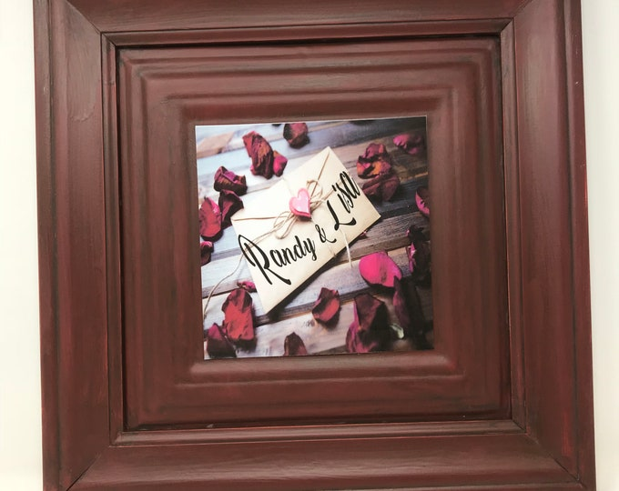 Personalized Gift, Farmhouse, Southern Decor, One Frame endless possibilities, Embossed Red Frame, A new twist on Home Decor, Board Signs