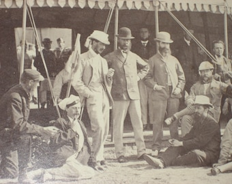 Wimbledon shooting party antique photo - 1870's