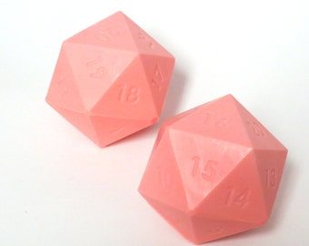 D20 Gamer Dice Giant Soap Bar Ball BACON & PANCAKES Red Color Ready To Ship Geek Gifts