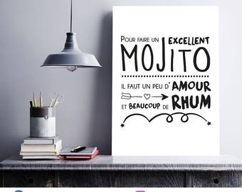Poster/print - The secret of a great mojito