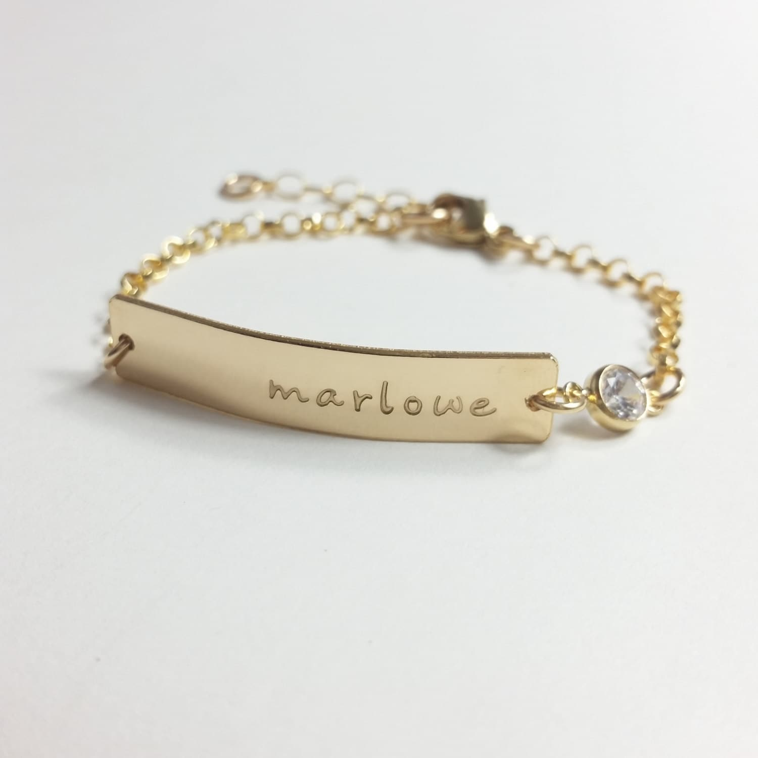 Baby Bracelet Baby name bracelet rose gold Baby bar