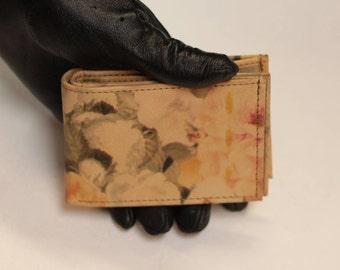 Tiny Wallet VDF Floral Print Leather