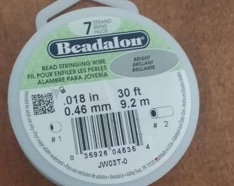 Beadalon Bead Stringing Wire. 7 Strand, .018 Thick 30 foot roll