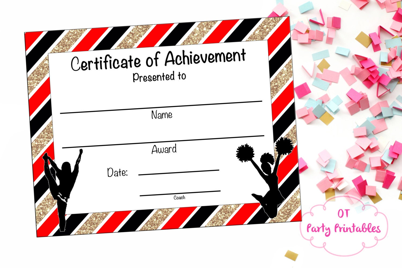 Cheerleading certificate cheerleading award cheerleading zoom 1betcityfo Choice Image