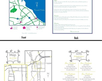 Wedding or Event Map Design- 2 sided