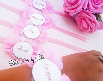 5 personalized bridesmaids bracelets