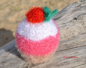 Sponge tawashi Cupcake in the strawberry