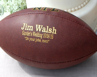 Personalized Football Ring Bearer Gift Groomsmen and Best