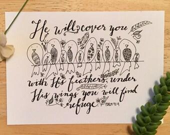 Psalm 91:4 Print