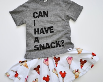 Can I have a snack tee, kids shirt, food tee, boys and girls shirt, hipster kids clothing, trendy kids clothes, boys graphic tee, girls tee