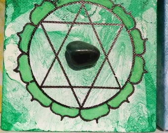 Small heart chakra painting