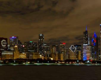Chicago Cubs #FlytheW Skyline Acrylic print