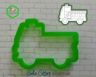 Fire Truck Cookie Cutter / Fire Fighter Cookie Cutter / 3D Printed Cookie Cutters