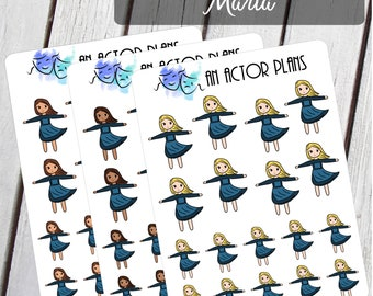 Maria - Hills are Alive - Broadway Musical Planner Stickers - Theater Sticker - Opening Night - Broadway Sticker - Actor - Musical Theater
