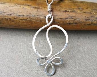 Yin Yang Harmony Sterling Silver Pendant Necklace, Yin Yang Necklace Beauty Gift Silver Necklace, Yin Yang Jewelry, Yinyang Gift for Women