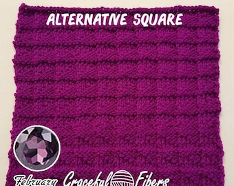 Alternative Amethyst Square Knit Pattern