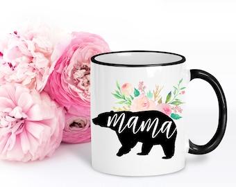Mama Bear Mug | Mom Coffee Mug | Gift for Mom | New Mom Gift | Cute Mothers Day Mug | Baby Shower Gift | Pregnancy Mug | 2 sizes available