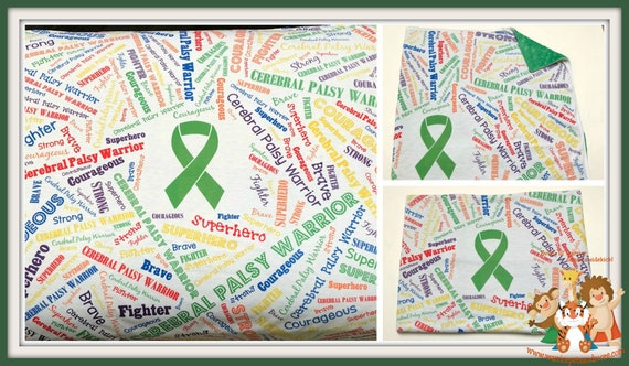 Cerebral Palsy Warrior, Minky Blanket, superhero, fighter, courageous, brave, strong,
