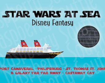 Disney Fantasy Star Wars at Sea Eastern Caribbean Cruise Magnet 5x7 Download