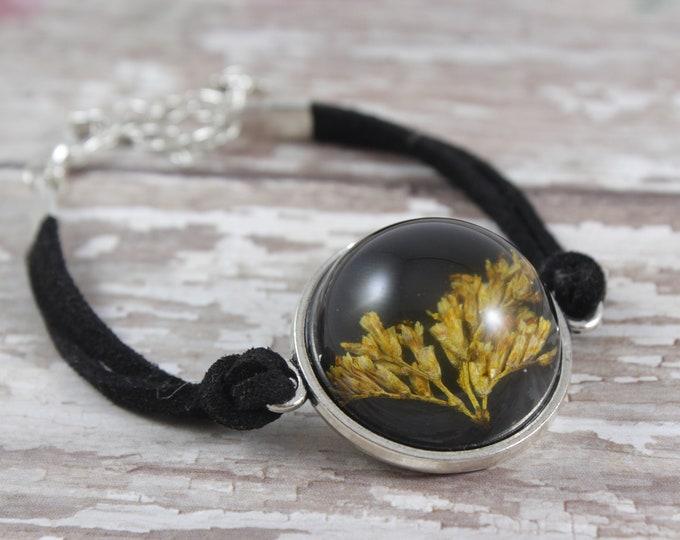 Goldenrod Flower Dome Bracelet