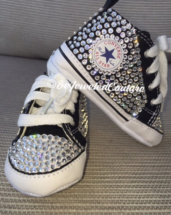 all black bling converse