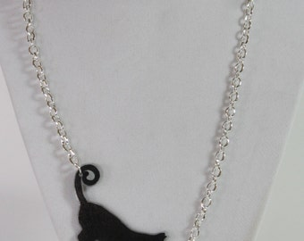 Shrink Plastic Stretch Kitty with Fish Charm