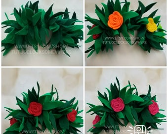 Handcrafted Felt Lilo Or Moana Inspired Headband, Lilo Costume, Moana Headband, Moana Crown, Moana Birthday Outfit, Lilo And Stitch, 420