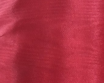 Vintage Red Moire Fabric 1/2 Yard or 1 Yard by 5 FT Vintage Special