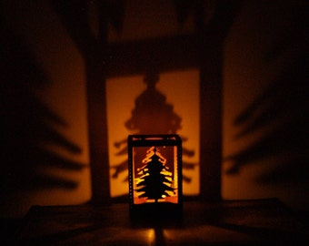 Christmas Tree Tealight Candle Holder & Projector