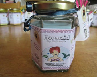 Mermaid Scented Soy Wax Candle 300g