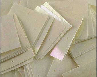 Glossy Vanilla Square Sequins 25mm - JR04692