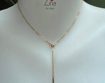 Tais Lariat - Gold plated 24 k gold