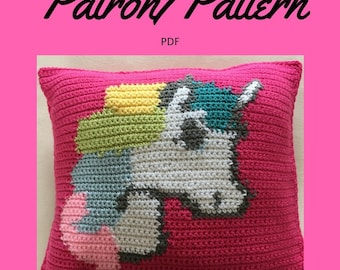 Crochet Pattern: Unicorn Pillow