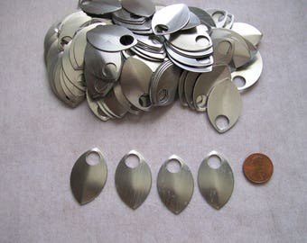 Dragon Scales - Aluminum - Large - Silver - Sets of 100